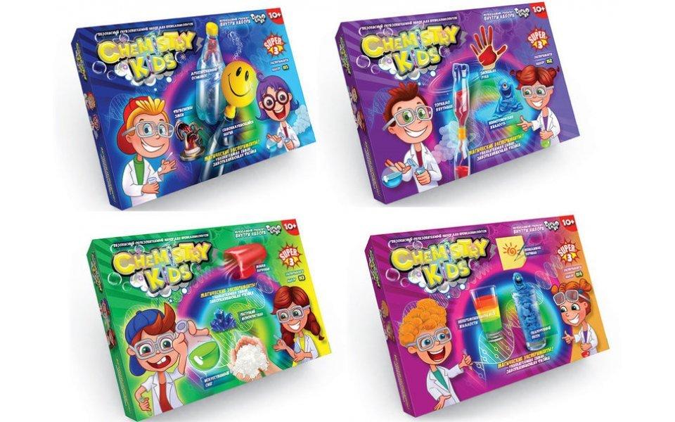 Безопасный образовательный набор для проведения опытов Danko ToysCHEMISTRY KIDS (7982DT)